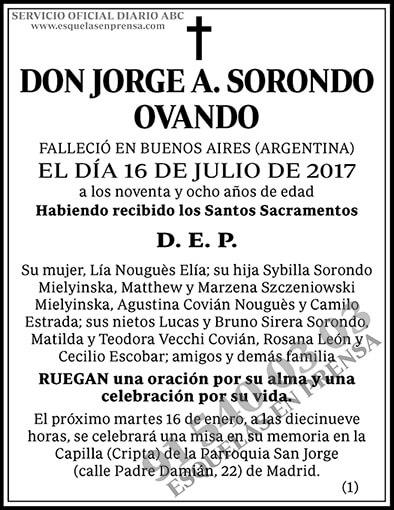 Jorge A. Sorondo Ovando